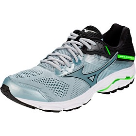 Mizuno Wave Inspire 15 Chaussures Homme, quarry/stormy weather/green gecko